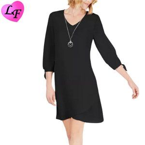Dress with Necklace in Black by JM Collection